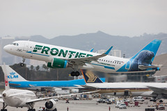 """Airbus A320 Frontier Airlines """"Hugh the Manatee"""" N238FR MSN 7458 (Guillaume Besnard Aviation Photography) Tags: lax klax losangeles losangelesinternationalairport plane planespotting canoneos eos1dsmarkiii canoneos1dsmarkiii canonef500f4lisusm airbusa320 frontierairlines hughthemanatee n238fr msn7458 cn7458"""