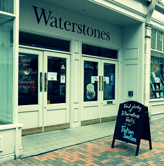 Bookshop subversives (The original SimonB) Tags: ipswich suffolk february 2017 panasonic fragmentofreality alternativefacts waterstones blackboard words lettering