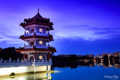 Chinese Garden Twin Pagodas at blue hour (gunman47) Tags: 2016 2017 30 asia chinese december fall garden lakeside sg singapore blue creative exposure hour journey landscape long night pagoda photography sec second seconds tripod twin