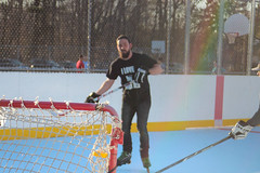 (Listeral Mac) Tags: hockey player play game skate man men roller shoot stick puck rink smithtown ny newyork longisland outside outdoor goal maple park