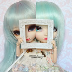 """""""Who is the girl that I see?"""" (·Yuffie Kisaragi·) Tags: doll dolls pullip pullips dahlia cinderella reen pere noel icy obitsu obitsus rewigged rechipped"""