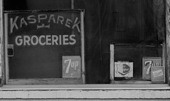 Abandoned Grocery (Tim @ Photovisions) Tags: building kansas store sign window 7up drpepper groceries