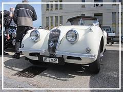Jaguar XK 120, 1950 (v8dub) Tags: jaguar xk 120 1950 schweiz suisse switzerland chavornay british roadster pkw voiture car wagen worldcars auto automobile automotive old oldtimer oldcar klassik classic collector
