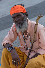 Nasik - man on the ghats (JohnMawer) Tags: nasik nashik maharashtra india in