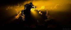 Sun and the Clouds (Ibrahim.Sayed) Tags: pakistan light sunset sky sun black clouds lens landscape interesting nikon rays 1855 nikkor islamabad rawalpindi 55200 d3000 d5100