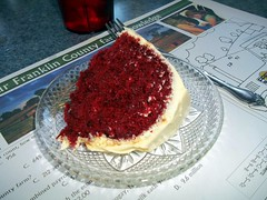 Red Velvet Cake Elm Circle Restaurant. (dccradio) Tags: food ny newyork cake dinner dessert lunch upstateny eat meal sweets supper pieceofcake redvelvetcake westville northernny creamfrosting elmcirclerestaurant