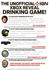 Unofficial IGN XBOX Reveal Drinking GAME! Watch a Microsoft Conference and play a game! http://bit.ly/10S5Zov (tf_tweeter) Tags: game fun image drinking xbox games microsoft conference reveal unofficial ign
