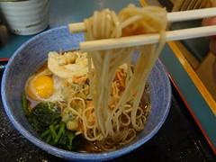 Kakiage Tempura & Raw Egg Soba Noodle @Komoro-Soba, Tokyo (Phreddie) Tags: food hot japan breakfast japanese restaurant tokyo raw egg eat soba noodle tempura buckwheat komoro kakiage 130515