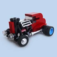 The MicRod (Fredoichi) Tags: cars lego wheels micro hotrod vehicle microscale fredoichi