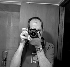 nikon portrait (bw) (Mr.  Mark) Tags: camera portrait bw reflection me self mirror photo nikon stock hi markboucher d5200