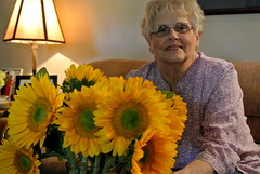 Mimi (Chaz170) Tags: birthday love yellow grandmother may mimi sunflowers 75 matriarch