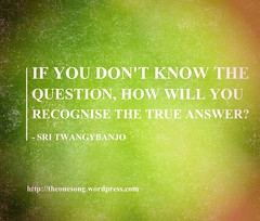 Words Of Wisdom - Question (swamicashinanda) Tags: wisdom wisewords wordsofwisdom pearlsofwisdom spiritualguidance selfhelpadvice wordsofwisdompearlsofwisdomselfhelpadvice selfhelpadvicewordsofwisdompearlsofwisdomspiritualguidanceselfhelpadvice spiritualguidancewordsofwisdompearlsofwisdom onesongblog sritwangybanjo