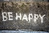 Be happy (Rosmarie Wirz) Tags: words reversegraffiti gettyaccepted gettyimageswants