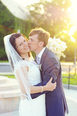 (irina_kra) Tags: bridge wedding light portrait people sun white love beautiful happy kiss husband naturallight wife w