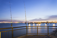 Waiting (ZawWai09) Tags: morning relax evening twilight fishing singapore waiting quiet pacific du