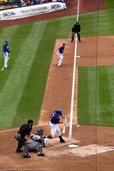 Josh Satin (Jeff_B.) Tags: newyork sports field hit baseball stadium bat plate swing queens satin braves mets shea ballpark mlb batter newyorkmets citi nationalleague citifield