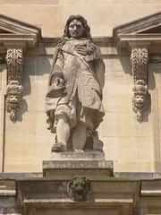 Paris-2013-07-08-0872-LeLouvre-Colbert (thepuckmathias) Tags: sculpture paris france statue museum architecture outside muse extrieur lelouvre ministre raymondgayrard jeanbaptistecolbert