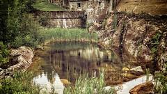 Le reflet du passe de la pulperie de Chicoutimi (gaudreaultnormand) Tags: park canada canon river quebec 1996 7d fjord parc saguenay chicoutimi 1903 bassin pulperie 2013 quebec riviere saguenaylacsaintjean deluge normandgaudreault rivierechicoutimi viellepulperie