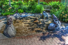 Frogs, Turtle and Ducks Fountain (aka Buddy) Tags: 2013 summer fountain duck ducks turtle turtles frog frogs water thegrove shrewsbury monmouthcounty newjersey nj og canon eos rebel t2i 550d efs18135mmf3556is photomatic high dynamic range hdr photomatix