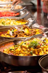 ({Miss Honey}) Tags: food london chicken cooking vegetables camdenmarket curry meat pots spicy asianfood pans