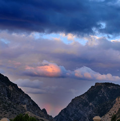 slight rainbow in af canyon 2013 (houstonryan) Tags: county summer art print landscape photography utah ryan entrance houston fork canyon photograph american late af 2013 houstonryan