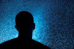 Suivez la lumire (Vivid~David) Tags: selfportrait me water rain silhouette night canon myself stars drops eau flash pluie dust nuit milkyway selfie goutt