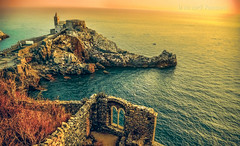 Click on Like in the Facebook page please! (in eva vae) Tags: blue windows red sea summer italy sun seascape art church water wall composition photoshop bay nikon rocks warm estate postcard liguria medieval cielo cape romanesque rocce acqua sanpietro portovenere lightroom p