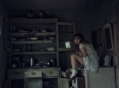 (yyellowbird) Tags: house selfportrait abandoned girl illinois lolita cari