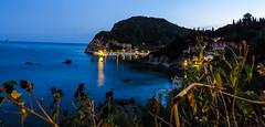 sleepy harbour (pawoo44) Tags: sea water night canon long exposure greece skyblue ionian paleokastritsa sx50