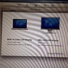 ลองต่อ DVI ไปจอ Dell U2412M แล้ว ง่ายๆ เลย ไม่ต้องตั้งค่าอะไร