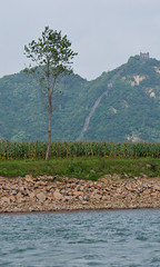 Eastern end of the Great Wall in Dandong, China. View from the North Korean Part (lucien_muller) Tags: china city nikon border greatwall northkorea dprk dandong d7000 nikond7000