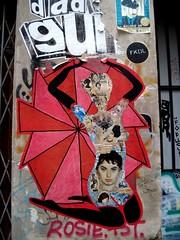Red paste-up by FKDL (Sokleine) Tags: street urban streetart paris france pasteup collage female vintage glamour women colours urbanart rue marais artderue 75003 fkdl franckduval