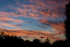 Sunrise (tommaync) Tags: morning blue sky orange sunshine clouds sunrise dawn nc nikon northcarolina september chathamcounty d40 digitalcameraclub 2013
