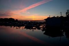 13-7397 (George Hamlin) Tags: railroad trestle bridge sky reflection water creek virginia photo colorful decor predawn csx neabsco