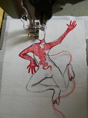 fire (Danny W. Mansmith) Tags: art sewing workinprogress stitching dannymansmith drawingwiththesewingmachine
