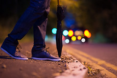 If I were to take everything back, would you come back to me? (muneeb1988) Tags: road autumn fall night early nikon with photos bokeh f14 85mm quotes d600 samyang