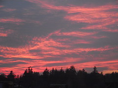 Oct 15/13 - Red Sky at Night (Primespot Photography) Tags: sunset red orange sun canada yellow bc bright britishcolumbia fraservalley lowermainland
