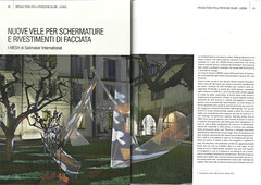 Talking about I-MESH on TENDA IN&OUT Sept/Oct. 2013 issue - pages 60-61 (I-MESH) Tags: architecture panels salonedelmobile natuzzi imesh ventilatedfacades universitiuav architecturaltextile sailmakerinternationalspa tendainout alessandropremier alikinwonderland demaniomarittimokm278 studiomarcopiva architettomarcopiva multiaxialgrid