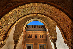 Alhambra Castle Entrance Way Granada Spain (Ted Dobosz) Tags: castle canon way lens spain arch entrance arabic alhambra granada gateway moors archway ornate 1740mm 6d