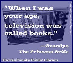 books were called television (hcplebranch) Tags: reading marketing libraries books ebranch digitalservices harriscountypubliclibrary facebookgraphics harriscountypl