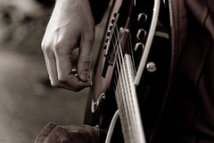 Hand on Strings (Pennan_Brae) Tags: music musicians vancouver guitar taylorguitar