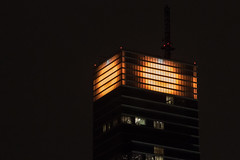 Jack O Lantern Bloomberg Building (agnellina) Tags: newyorkcity orange halloween night pumpkin lights jackolantern manhattan bloombergbuilding project365