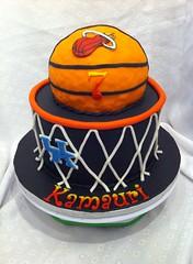 Basketball cake by Dawn, Raleigh-Durham NC, www.birthdaycakes4free.com