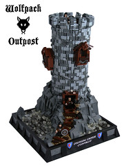 Wolfpack Outpost (Disco86) Tags: tower castle classic lego contest retro round ccc colossal hideout wolfpac