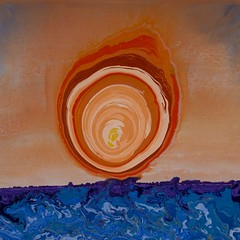 Seas of the hypnotic sun - Abstract Poured Painting (lanes.paul120) Tags: abstractseascape abstractbutterflies abstractpouredpainting abstractpouredpaintings