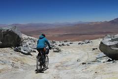 Descending from the col on Uturuncu
