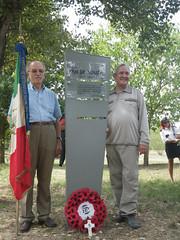 Ian de Souza, right, at memorial to his father, Ken