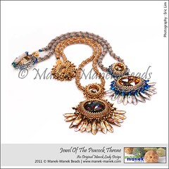 Jewel Of The Peacock Throne (The Manek Lady) Tags: collier necklace czech crystal peacock jewelry bead swarovski dagger collar throne beadwork beadweaving