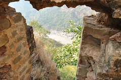 Jehlum through Ain Pan (Asif Saeed [....DOCUMENTING PAKISTAN...]) Tags: travel camping green water forest trekking photography waterfall stream fort punjab fortress archeology bastions muslimarchitecture kahuta travelinginpakistan asifsaeed historicbuildings