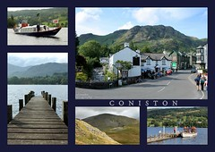 A Postcard From Coniston (Wipeout Dave) Tags: collage postcard lakedistrict picasa cumbria scenes coniston cumberland wipeoutdave canoneos1100d djs2013 davidsnowdonphotography